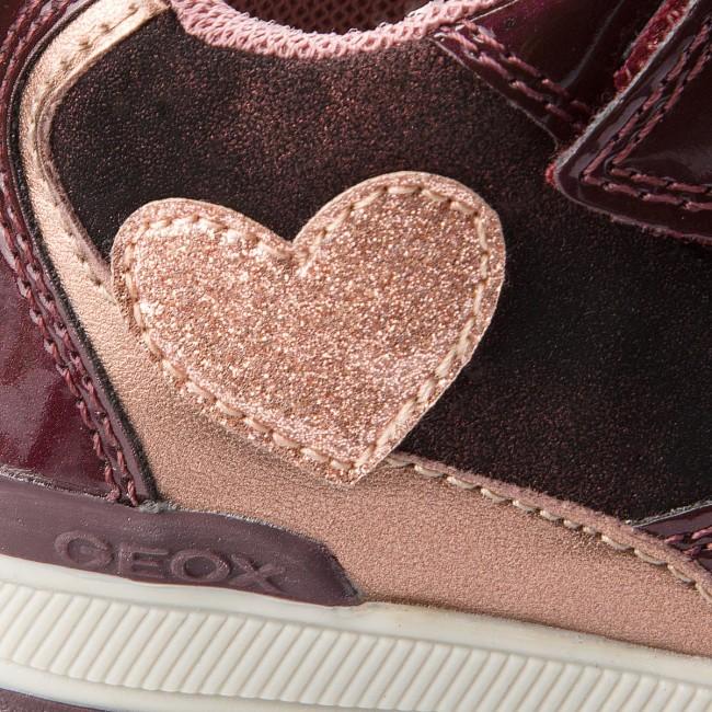 Rishon 0hipv Sneakers Geox Strappi Bambina B Bordeaux C0500 Scarpe Basse Bambino pink Con GB840lb DIYWE29H