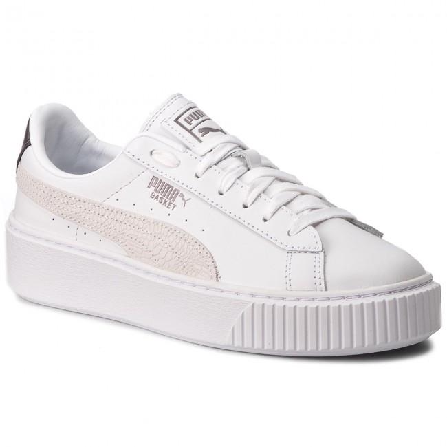 710bfcf420f6ca Sneakers PUMA - Basket Platform Euphoria Metal 367850 01 Puma White/Puma  Aged Silver