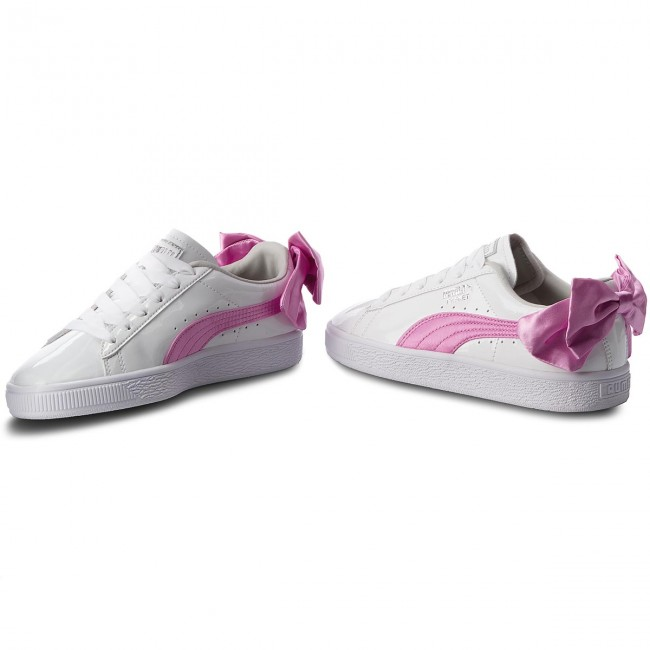 Sneakers PUMA Basket Bow Patent Jr 367621 02 Puma WhiteOrchidGray