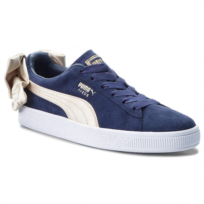 16e666368f Sneakers PUMA - Suede Bow Varsity Wn's 367732 02 Peacoat/Metallic Gold