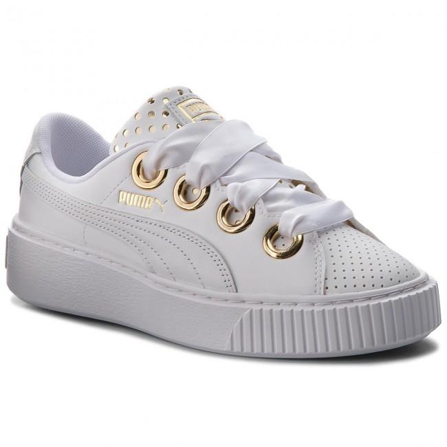 scarpe puma platform bianche
