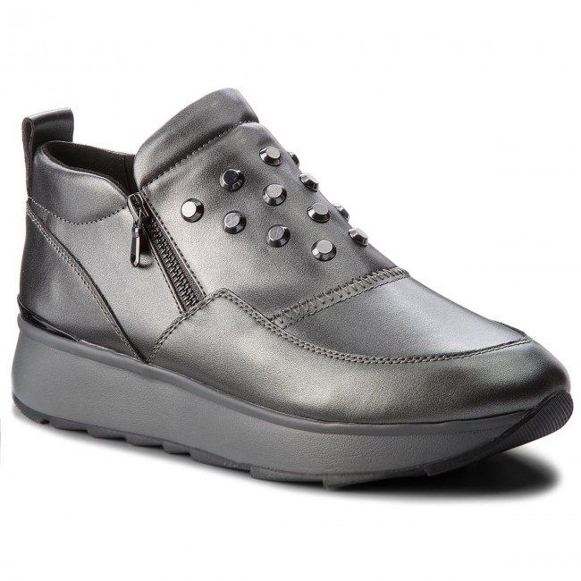 Sneakers GEOX D Gendry A D745TA 0BVNF C1G9F GunDk Grey
