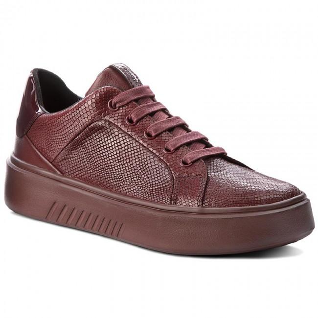 Sneakers GEOX D Nhenbus A D828DA 09DHH C7357 DK BURGUNDY