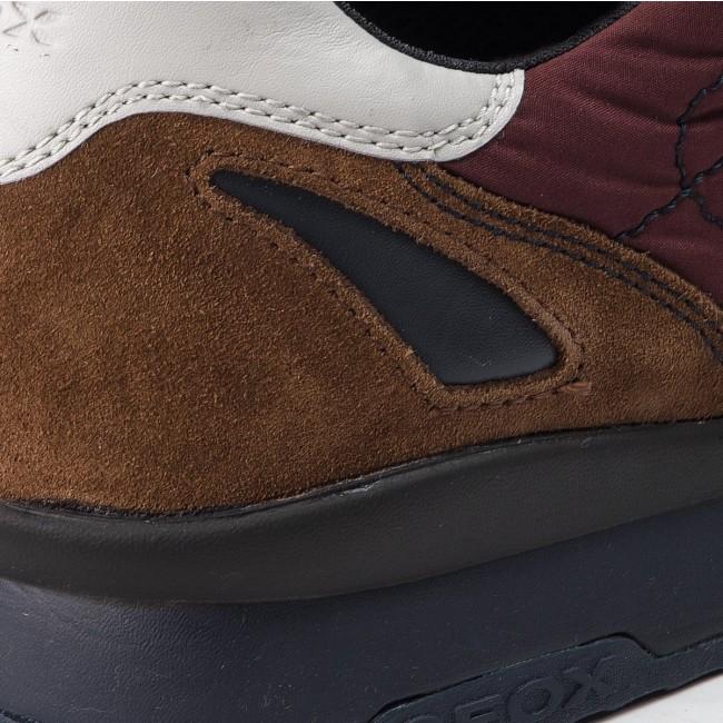 Sneakers GEOX U Sandford B Abx A U44S7A 020FU C9AA7 AnthraciteWine