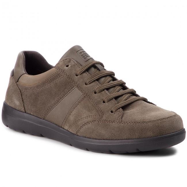 Sneaker Wells in camoscio e tessuto taupe Uomo GEOX | L
