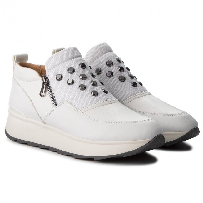 Sneakers GEOX - D Gendry A D745TA 08554 C1000 White - Sneakers - Scarpe basse - Donna