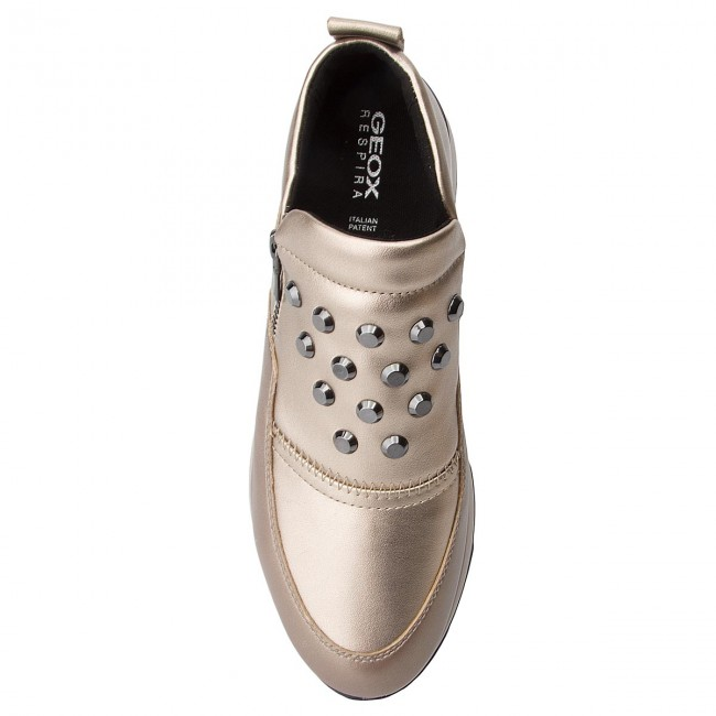 Champagne Basse D Geox A D745ta Scarpe Sneakers Gendry Cb500 Donna 0bvnf Y67fybgv