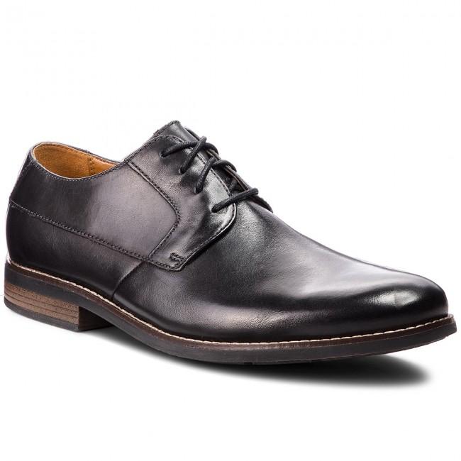 Scarpe basse CLARKS Becken Plain 261231487 Black Leather