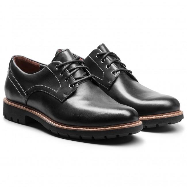 Scarpe basse CLARKS - Batcombe Hall 261275497 Black Leather - Da giorno - Scarpe basse - Uomo