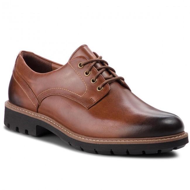 Scarpe basse CLARKS Batcombe Hall 261275517 Dark Tan Leather