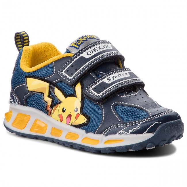 Sneakers GEOX J Shuttle B. C J8294C 014BU C4054 M NavyYellow