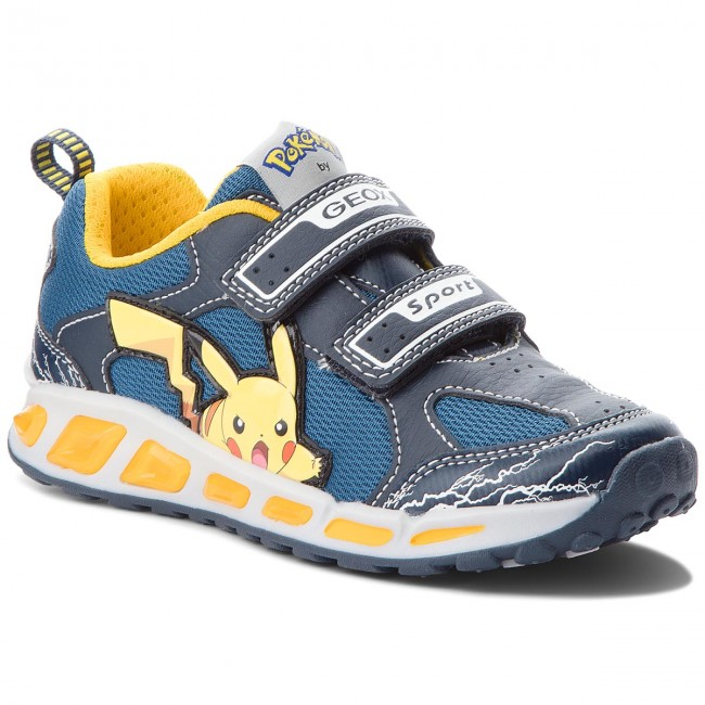 Sneakers GEOX J Shuttle B. C J8294C 014BU C4054 D NavyYellow