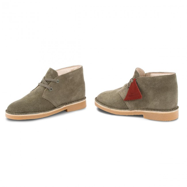 Polacchi CLARKS Desert Boot 261350277 Olive Suede