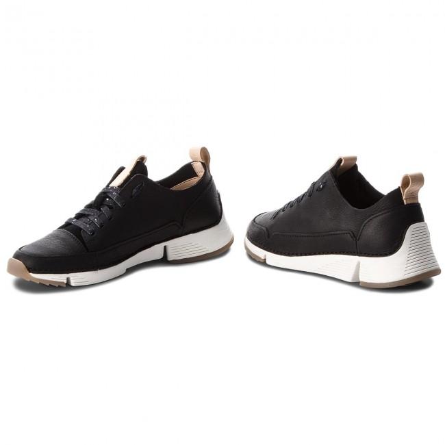 Spark261353844 Sneakers Donna Clarks Tri Black Basse Nubuck Scarpe KJ5c3lFuT1