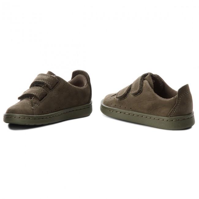 Olive A Clarks Strappi Nate Sneakers Bambino 261358316 Nubuck Maze Scarpe Basse EWeD9I2YH