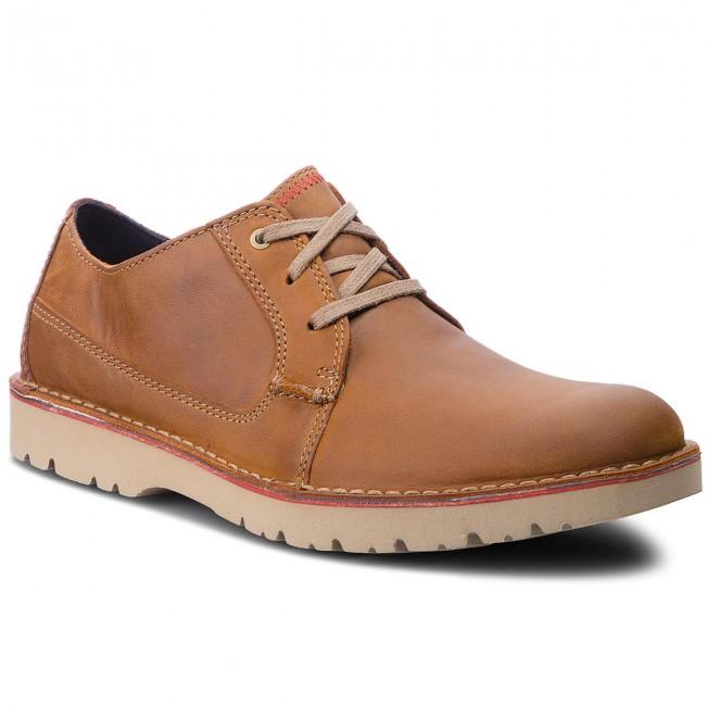 check-out 6f260 b1aca Scarpe basse CLARKS - Vargo Plain 261366767 Dark Tan Leather