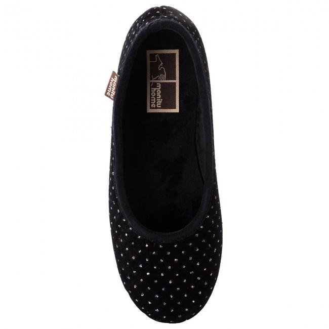 340235 Schwarz E Ciabatte 1 Donna Pantofole Manitu Sandali CBodxe