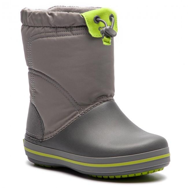 pensieri su scarpe di separazione alta qualità Stivali da neve CROCS - Crocband Lodgepoiont Boot K 203509 Smoke/Graphite