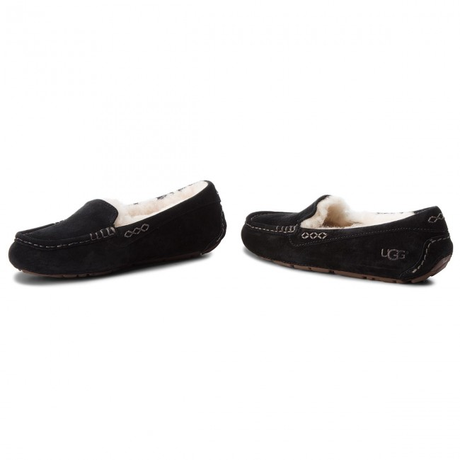 Ciabatte ugg escarpe neri lana