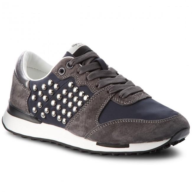 Basse Bimba Black Donna Jeans Sneakers Pls30744 999 Pepe Studs Scarpe Qrtshd