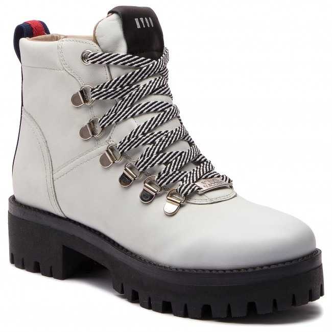 Scarponcini STEVE MADDEN Boomer Ankle Boot SM11000245 03001 107 White Leather