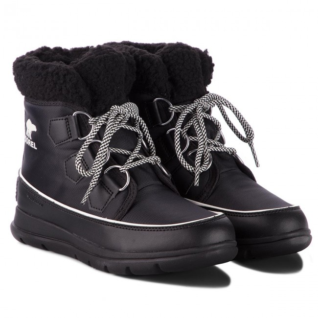 Stivali da neve SOREL - Explorer Carnival NL3040 Black/Sea Salt 010 - Stivali da neve - Stivali e altri - Donna