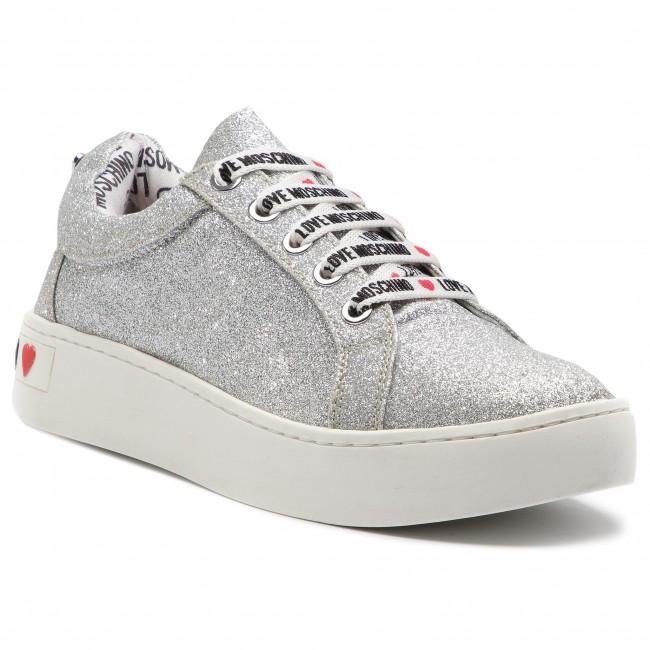 best loved e4ff9 6918f Sneakers LOVE MOSCHINO - JA15253G17II0902 Glitter Argento