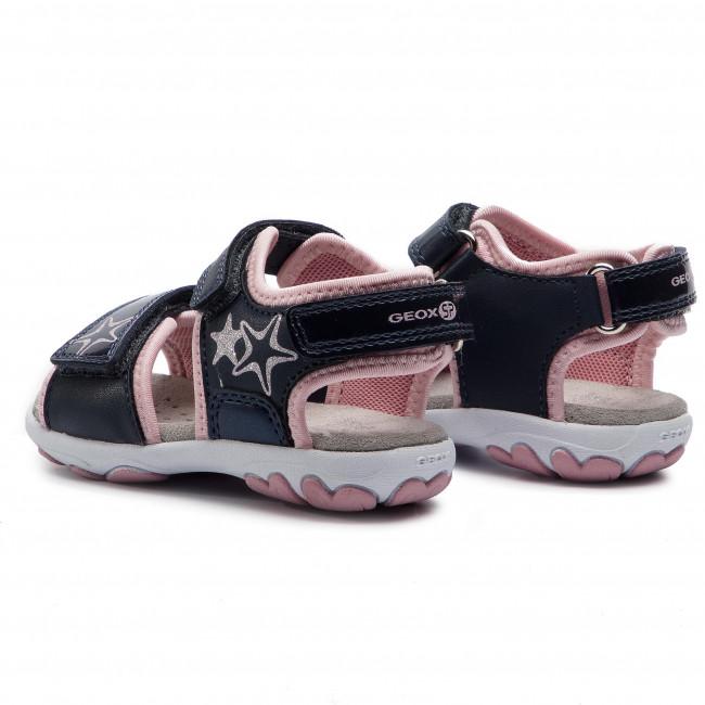 Bambina B Sandali Geox San E 0aj15 cuore Navy pink M C0694 B9290b Ciabatte Bambino IYgbyf76v