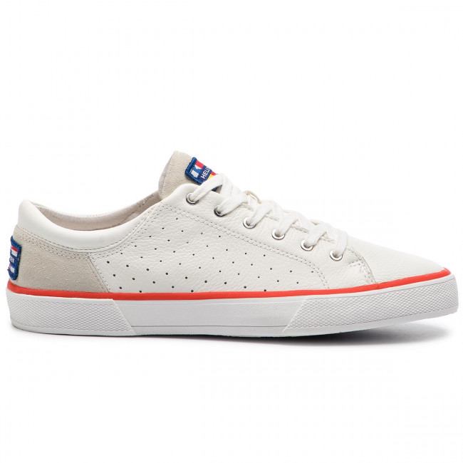 Scarpe sportive HELLY HANSEN - Copenhagen Leather Shoe 115-02.011 Off White/Alert Red/Light Grey - Scarpe da ginnastica - Scarpe basse - Uomo