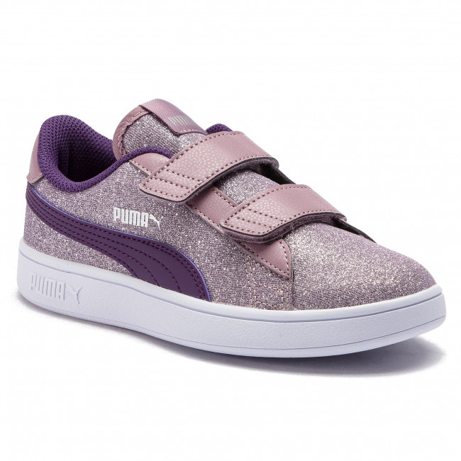 Sneakers PUMA Smash v2 Glitz Glam V Ps 367378 06 ElderberryIndigoSilverWht