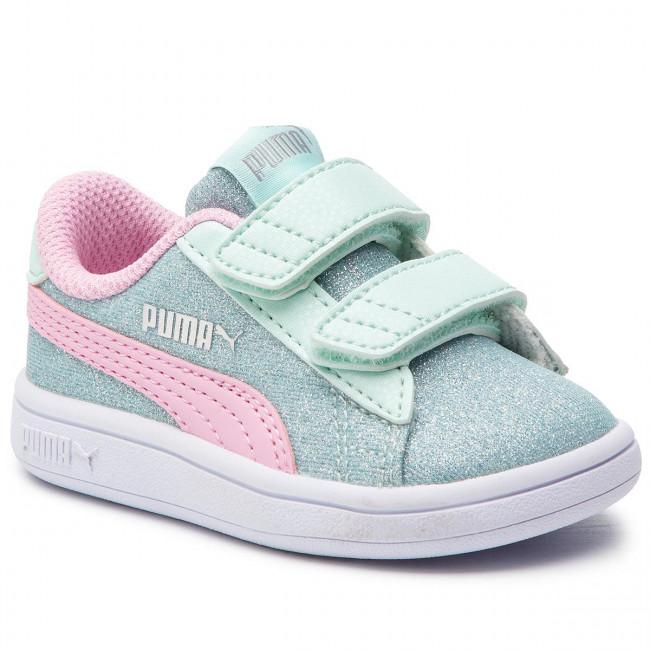 Sneakers PUMA Smash V2 Glitz Glam V Inf 367380 07 F AquaP PinkSliverWhite