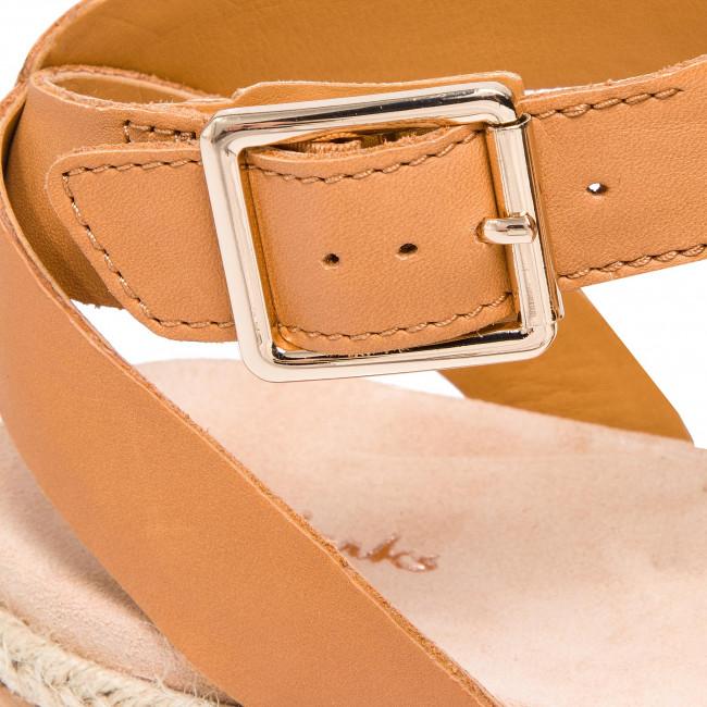 Espadrillas CLARKS - Botanic Poppy 261419224 Light Tan Leather - Espadrillas - Ciabatte e sandali - Donna