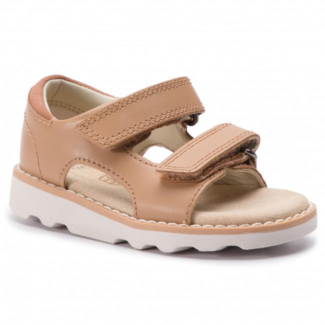 Sandali CLARKS Crown Root T 261411316 Tan Leather