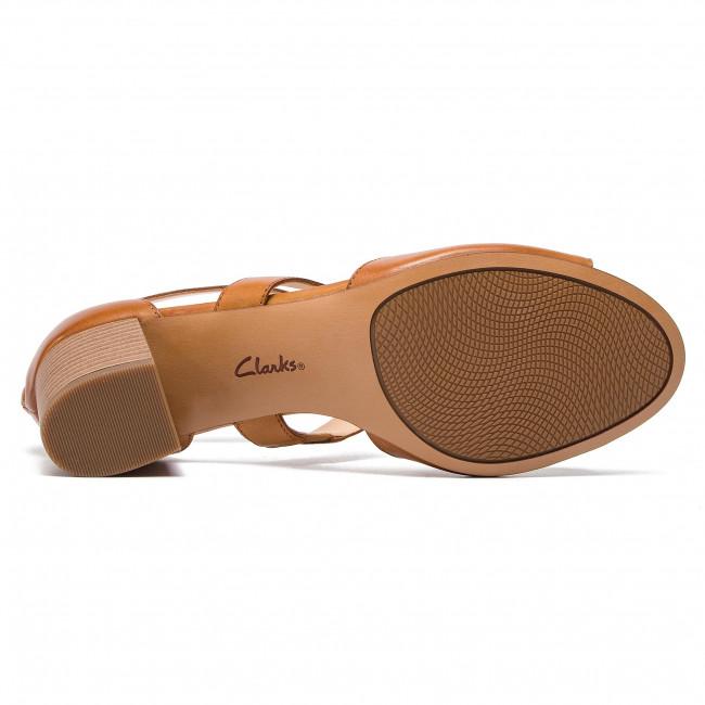 Clarks Donna 261403494 Tan Ciabatte Leather Fae Sandali Giorno E Deloria Da tsQCrxhd