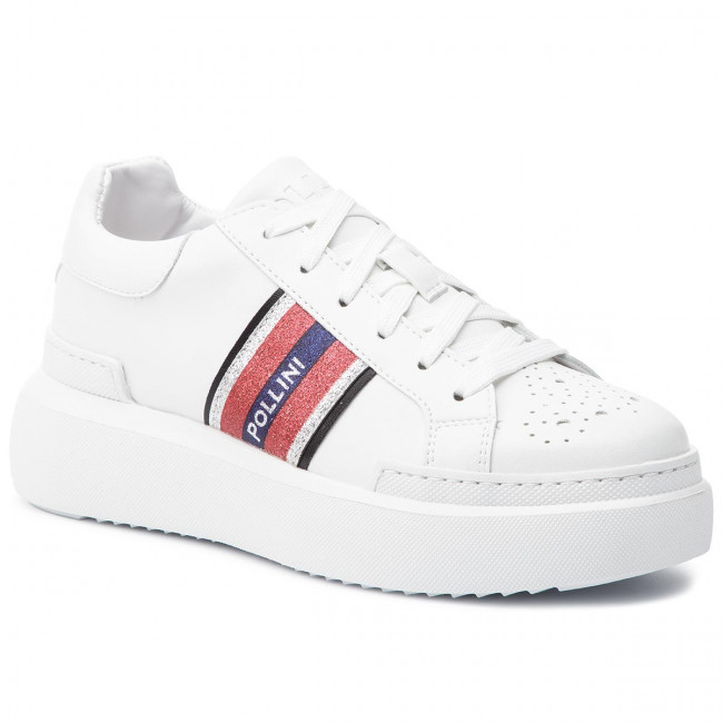 002d51ba1a7d13 Sneakers POLLINI - SA15044G17TT0100 Bianco - Sneakers - Scarpe basse - Donna  - escarpe.it