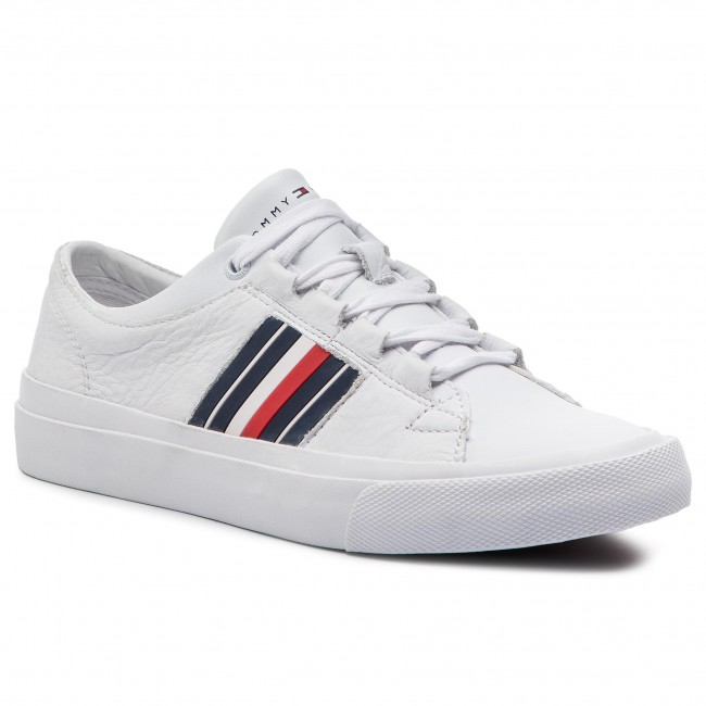 Sneakers TOMMY HILFIGER Corporate Leather Low Sneaker FM0FM01943 White 100