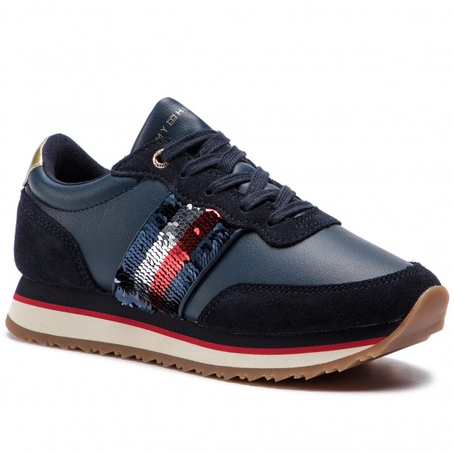 Black TOMMY HILFIGER Sneakers RETRO RUNNER SNEAKER