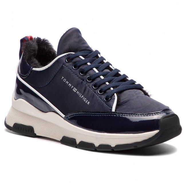 16f8faf45cfe Sneakers TOMMY HILFIGER - Cool Technical Satin Sneaker FW0FW03970 Midnight  403 - Sneakers - Scarpe basse - Donna - escarpe.it