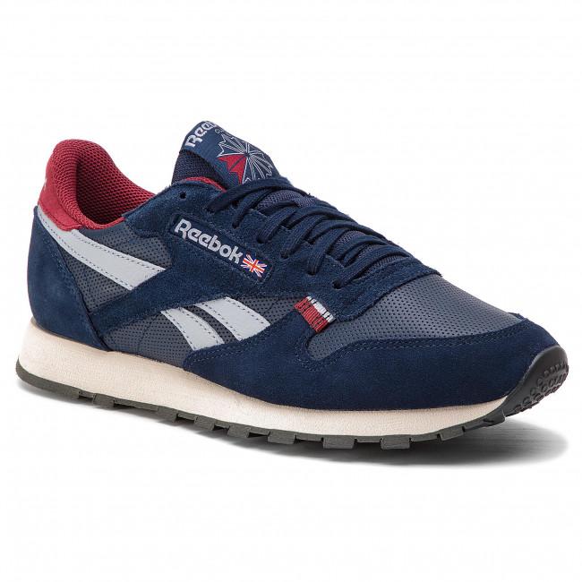 Mu Reebok Sneakers Navy stucco Basse Uomo Cl red Scarpe Leather Cn7178 grey k0wOP8nX