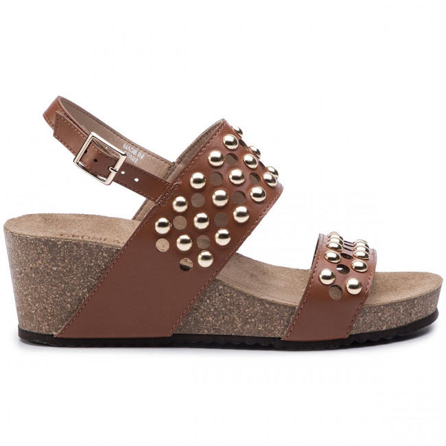 Sandali GRÜNLAND - Ersi SB1284-70 Cuoio - Zeppe - Ciabatte e sandali - Donna
