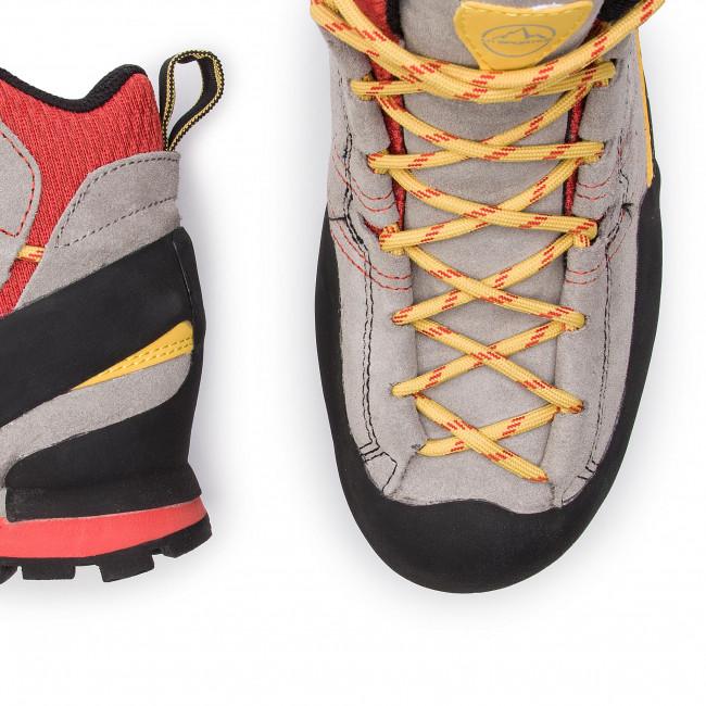 Scarpe da trekking LA SPORTIVA - Boulder X Mid GTX GORE-TEX 17EGR Gray/Red - Scarpe da trekking e scarponcini - Stivali e altri - Uomo
