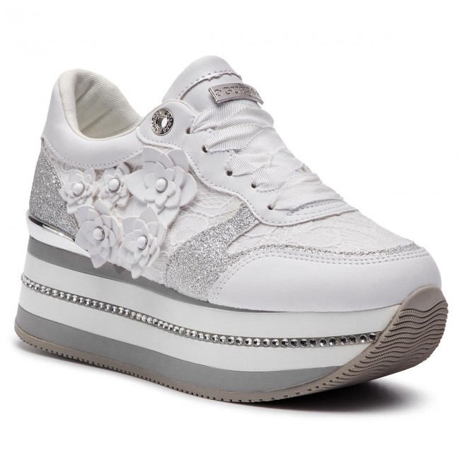 White Hinder Lac12 Basse Guess Fl5hin Sneakers Scarpe dstrChQ