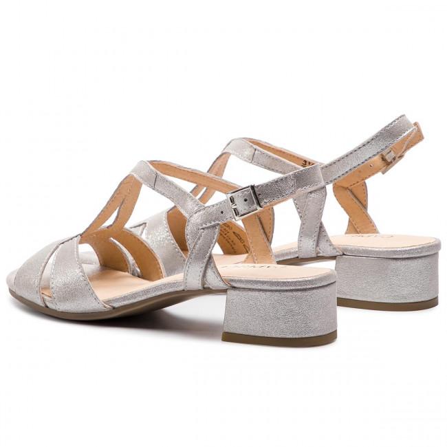 Sandali CAPRICE - 9-28201-22 Silver/Sue.Met 924 - Sandali da giorno - Sandali - Ciabatte e sandali - Donna