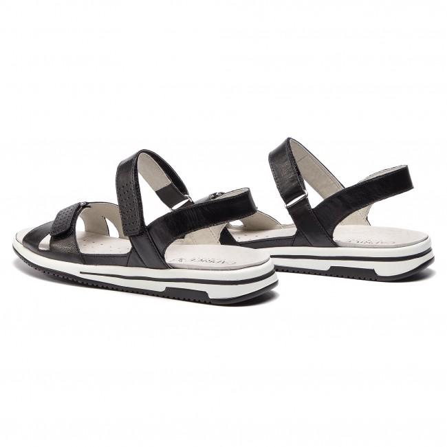 Sandali CAPRICE - 9-28600-22 Black Nappa 022 - Sandali sportivi e da spiaggia - Sandali - Ciabatte e sandali - Donna