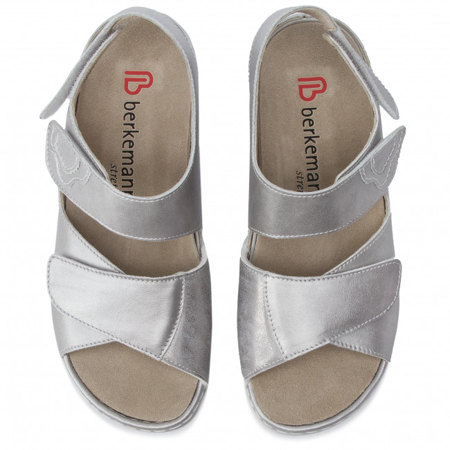 Sandali BERKEMANN - Rina 01040 Altsilber 114 - Zeppe - Ciabatte e sandali - Donna