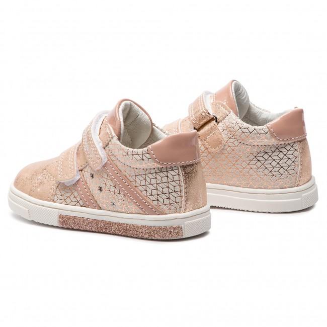 Scarpe sneakers da bambina PRIMIGI in pelle rame 3408222