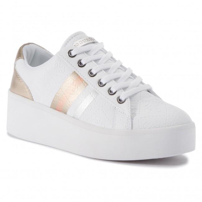 5b7abe6971 Sneakers GUESS - Talli FL6TLL FAL12 WHITE - Sneakers - Scarpe basse ...
