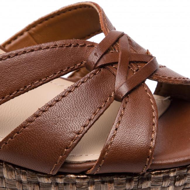 Espadrillas GUESS - Guliver FL6GUL LEA04 BROWN - Espadrillas - Ciabatte e sandali - Donna