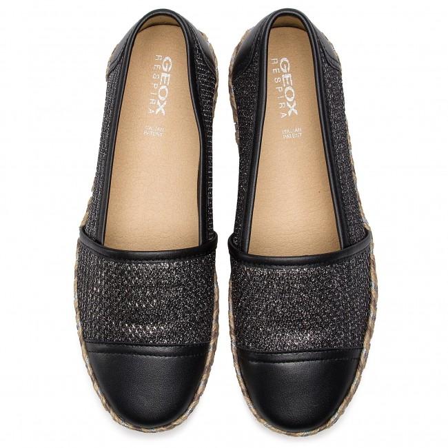 Donna Black D7229c 0asbv C9999 Geox C Scarpe D Modesty Espadrillas Basse 7Yf6ygbv