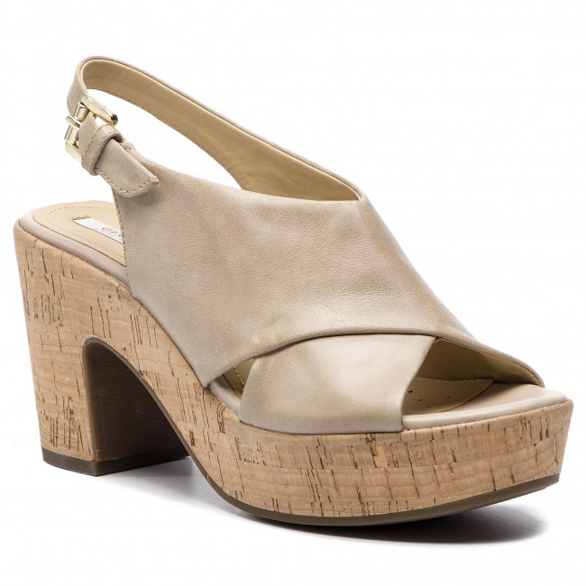 Geox D724SB 000LC Scarpe Sandalo tacco